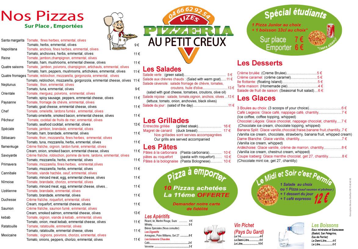 Pizzeria au petit creux uz s mayac decouvriruzes for Au petit jardin uzes