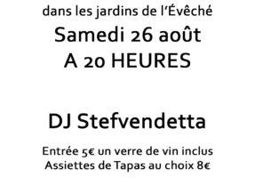 26 Août 2017 : Uzès Jardins de l'Evêché à partir de 20h